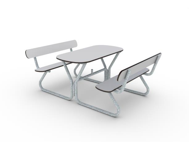 Commercial Picnic Tables HAGS - Picnic table dwg
