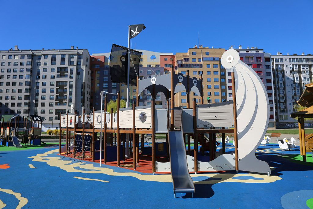 Custom Pirate Ship Playground in Spain