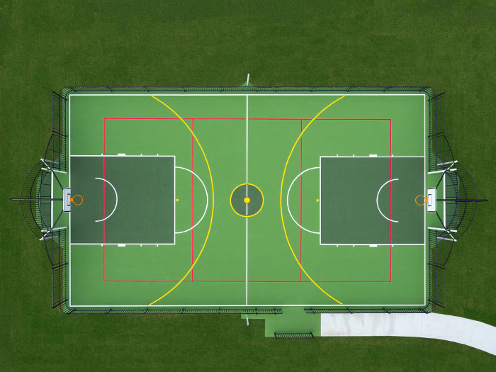 Bird's eye view of a multi-use games area court in Australia