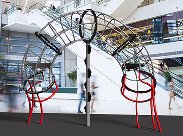 Loly playground climbing structure in a shopping mall